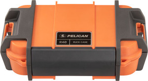"""Pelican Ruck Case Large R40 - W/divider Org Id 7.6""""x4.7""""x1.9"""