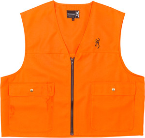Bg Safety Vest Buck Mark Logo - Blaze Orange X-large