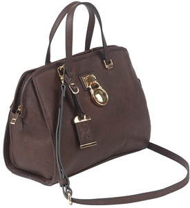 Bulldog Concealed Carry Purse - Satchel Chocolate Brown