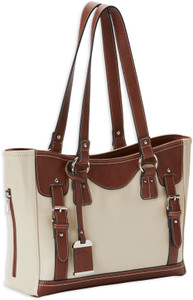 Bulldog Concealed Carry Purse - W/ Holster Tote Style Sand/stn