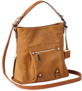Bulldog Concealed Carry Purse - Hobo Anna Cognac