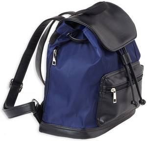 Bulldog Back Pack Purse - W/ Holster Medium Navy Stripe