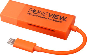 Boneview Sd Card Reader For - Iphone 567 W/lightning Xtndr