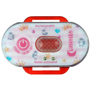 Lunasea Child Safety Water Activated Strobe Light - Red Case & Blue Attention Light