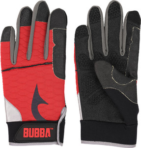 Bubba Blade Fillet Gloves - Large W/red Non Slip Grip