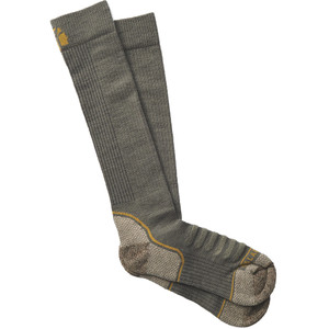 Lacrosse Men's Copper Merino Socks Midweight Over The Calf Od Green X-large