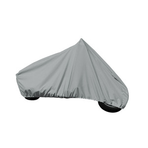 """Carver Performance Poly-Guard Full Dress Touring Motorcycle w/Up to 15"""" Windshield Cover - Grey"""