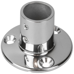 "Sea-Dog Rail Base Fitting 2-3/4"" Round Base 90 316 Stainless Steel - 1"" OD"