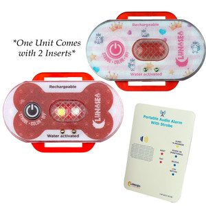 Lunasea Child/Pet Safety Water Activated Strobe Light w/RF Transmitter - Red Case, Blue Attention Light