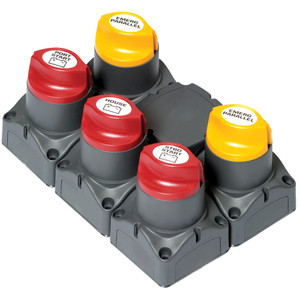 BEP Battery Distibution Cluster f/Twin Outboard Engines w/Three Battery Banks w/Motorized VSR