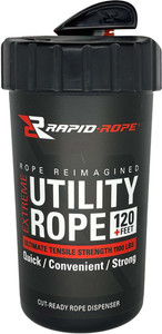 Rapid Rope Canister White 120+ - Feet Utility Rope W/cutter