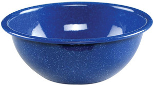 """Coleman 6"""" Enamel Mixing Bowl - Classic Blue Speckled"""