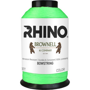 Brownell Rhino Bowstring Material Fluorescent Green 1/8 Lb.