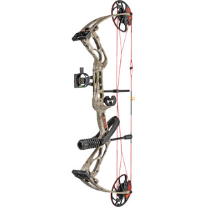 Warrior River Courage Compound Bow Package Dirt Road Camo 20-70 Lbs. Rh