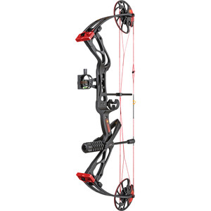 Warrior River Courage Compound Bow Package Black 20-70 Lbs. Rh