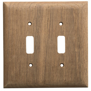 Whitecap Teak 2-Toggle Switch/Receptacle Cover Plate