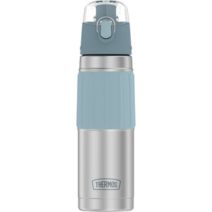 Thermos Vacuum Insulated 18oz Hydration Bottle - Stainless Steel w/Grey Grip