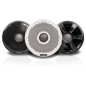 """FUSION FR6022 6"""" Round 2-Way IPX65 Marine Speakers - 200W - (Pair) w/3 Speaker Grilles Provided"""