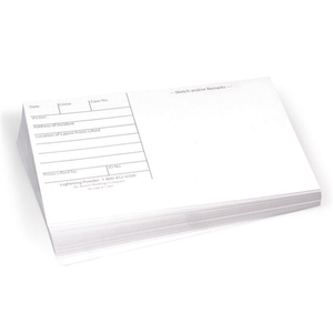 Backing Cards, 5.5 X 8.5, White, Pack Of 100