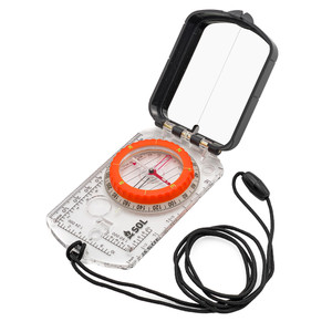 S.O.L. Survive Outdoors Longer Sighting Compass w/Mirror