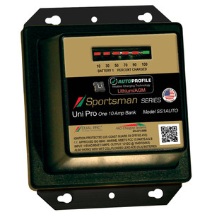 Dual Pro SS1 Auto 10A - 1-Bank Lithium/AGM Battery Charger