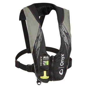 Onyx A/M-24 Series All Clear Automatic/Manual Inflatable Life Jacket - Grey - Adult