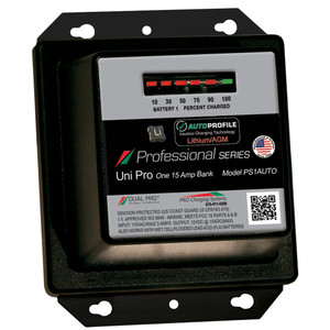 Dual Pro PS1 Auto 15A - 1-Bank Lithium/AGM Battery Charger