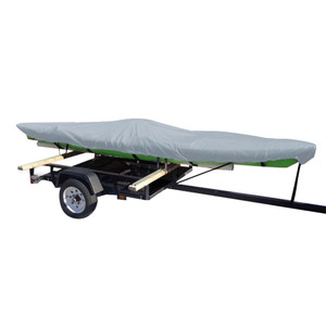 Carver Poly-Flex II Extra Wide Styled-to-Fit Cover f/12.5' Fishing Kayaks Trailerable- Grey