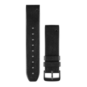 Garmin QuickFit 22 Watch Band - Black Perforated Leather