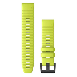 Garmin QuickFit 22 Watch Band - Amp Yellow Silicone