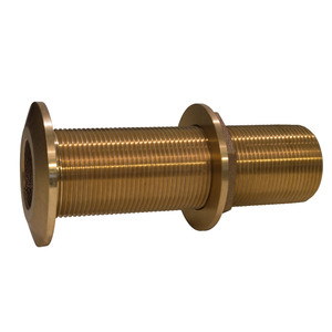 "GROCO 1"" Bronze Extra Long Thru-Hull Fitting w/Nut"
