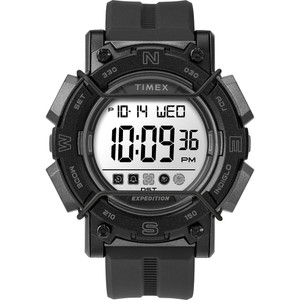 Timex Expedition Digital Face 47mm - White Screen w/Black Resin Strap