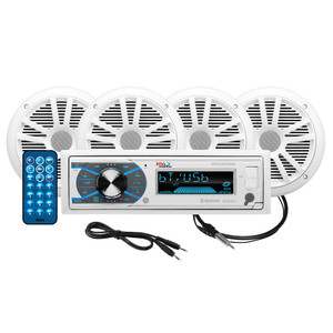 """Boss Audio MCK632WB.64 Package AM/FM Digital Media Receiver; 2 Pairs of 6.5"""" Speakers & Antenna"""