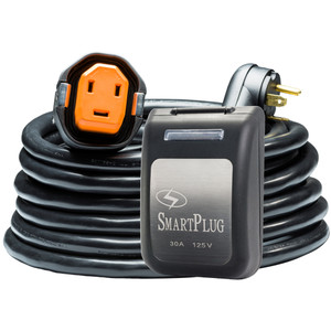 SmartPlug RV Kit 30 Amp 30' Dual Configuration Cordset - Black (SPX X Park Power) & Non Metallic Inlet - Black