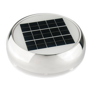 """Marinco 4"""" Day/Night Solar Vent - Stainless Steel"""