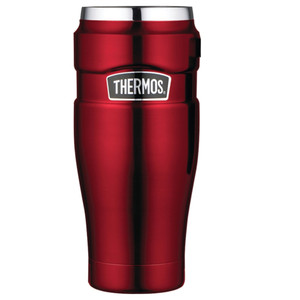 Thermos Stainless King Vacuum Insulated Travel Tumbler - 16 oz. - Stainless Steel/Cranberry