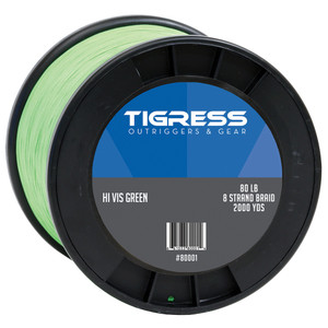 Tigress High-Visibility 80lb Kite Braid - Green