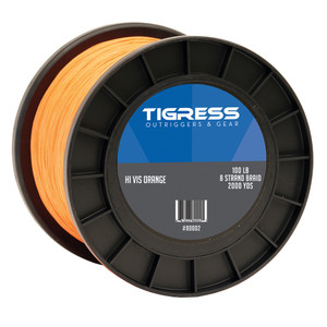 Tigress High-Visibility 100lb Kite Braid - Orange