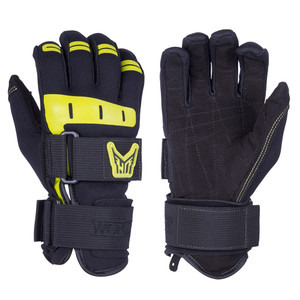 HO Sports Wakeboard Men's World Cup Gloves - Black/Yellow - Medium