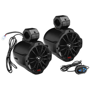 "Boss Audio B62ABT 6.5"" 2-Way Amplified Waketower Speakers w/Bluetooth Controller"
