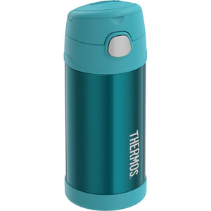 Thermos FUNtainer Stainless Steel Insulated Teal Water Bottle w/Straw - 12oz