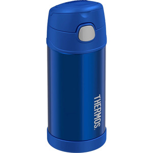 Thermos FUNtainer Stainless Steel Insulated Blue Water Bottle w/Straw - 12oz