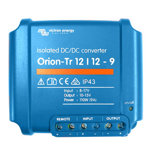 Victron Orion-TR DC-DC Converter - 12 VDC to 12 VDC - 9AMP Isolated