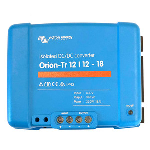 Victron Orion-TR DC-DC Converter - 12 VDC to 12 VDC - 18AMP Isolated