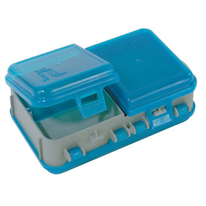 Plano Double-Sided Adjustable Tackle Organizer Small - Silver/Blue
