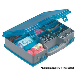 Plano Double-Sided Adjustable Tackle Organizer Large - Silver/Blue
