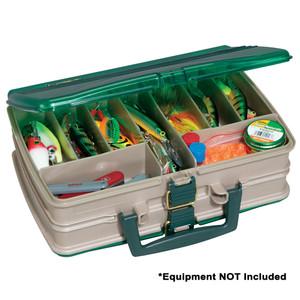 Plano Double-Sided 20-Compartment Satchel - Sandstone/Green