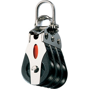 Ronstan Series 20 ball Bearing Block - Triple - 2-Axis Shackle head