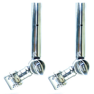 """Tigress Adjustable T-Top Clamp-On Outrigger Holder - 1-15/16"""" IPS - 1-1/2"""" Poles - Pair"""