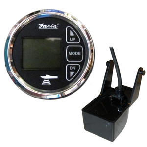 "Faria 2"" Dual Depth Sounder w/Air & Water Temp Transom Mount Transducer - Chesapeake SS Black"